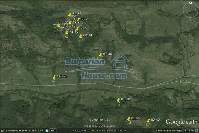 10237:1 - Cheap agricultural bulgarian land for sale in Lovech region