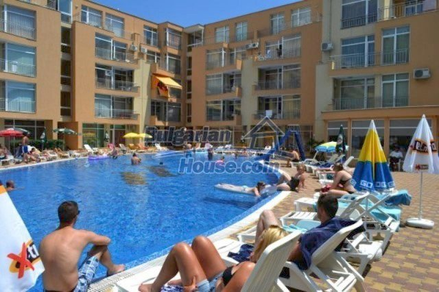12074:3 - Bulgarian studio apartment with elegant furniture in Sunny Beach